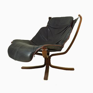 Falcon Leather Lounge Chair by Sigurd Ressel for Vatne Møbler, 1970s