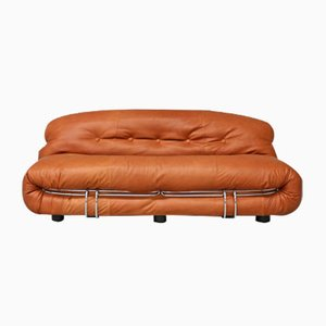 Vintage Zwei-Sitzer Soriana Sofa von Tobia & Afra Scarpa für Cassina