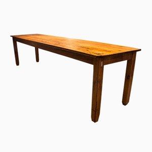 Antique Pine Factory Table