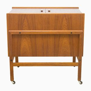 Mid-Century Teak Cocktail Trolley from Arrebo Mobler