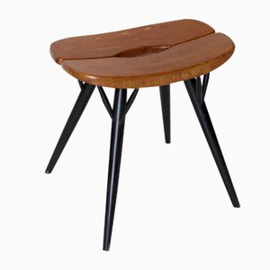Finnish Pirkka Stool by Ilmari Tapiovaara for Laukaan Puu, 1950s