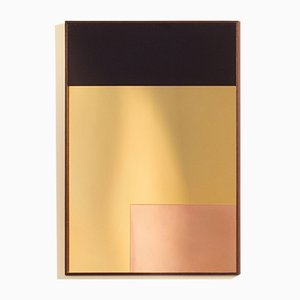 Miroir mural constructiviste moderne rond en cuivre poli par nina cho en vente sur pamono for Miroir mural moderne