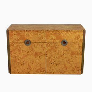 Vintage Burl Wood Sideboard by Willy Rizzo for Mario Sabot