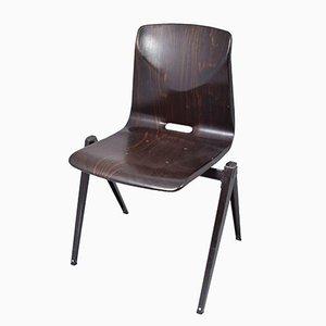 Dunkelbrauner S22 Stuhl von Galvanitas, 1967