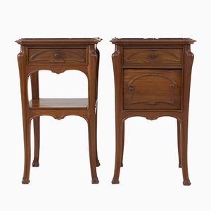 French Art Nouveau Nightstands, 1900s, Set of 2