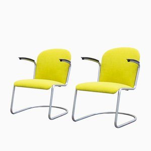 Mid-Century Model 413 RL Lounge Chairs by W.H. Gispen for Gispen, Set of 2