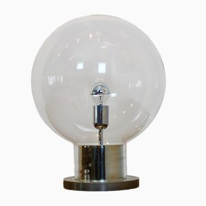 Large Mid-Century Chrome & Glass Globe Table Lamp from Raak