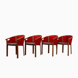 Chaises de Salon en Teck par Rud Thygesen & Johnny Sørensen pour Magnus Olesen, 1980s, Set de 4