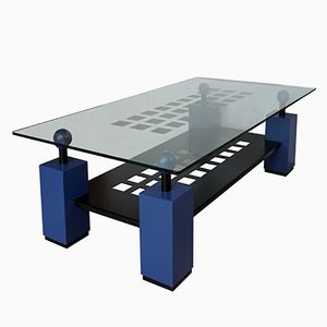 Blue Coffee Table, 1980s