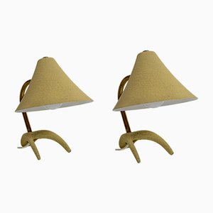 Gelbe Tischlampen von Louis Kalff für Philips, 1950er, 2er Set