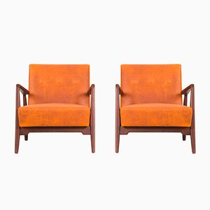 Lounge Chairs by Jens Risom, 1950s, Set of 2