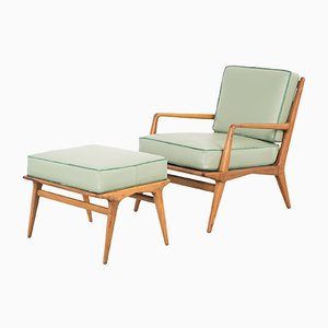 Lounge Chair & Ottoman by Carlo Di Carli for M. Singer and Sons, 1950s