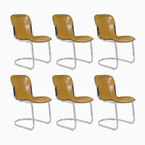 Italian Chairs by Willy Rizzo for Cidue, 1970s, Set of 6