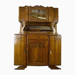 Vintage French Art Deco Oak Dresser