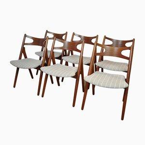 CH29 Stühle von Hans Wegner für Carl Hansen, 1950er, 6er Set