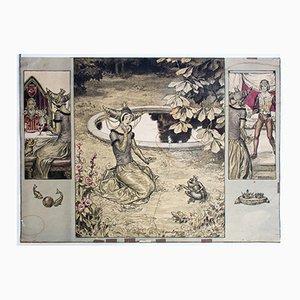 Der Froschkönig Wandplakat von Fadrus Märchenbilder, 1949