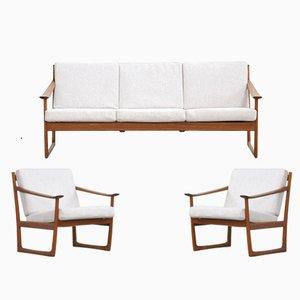 Dänisches FD130 Sofa und 2 Stühle von Peter Hvidt & Orla Mølgaard-Nielsen für France & Søn