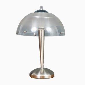 Meblo Brushed Chrome Table Lamp from iGuzzini, 1970s