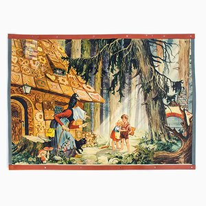 Fairy Tale Wall Chart of Hansel and Gretel by A. Hoffmann, 1957
