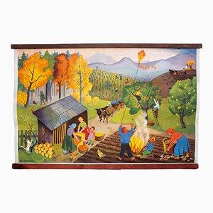 Autumn Wall Chart, 1952