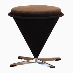 Vintage Cone Stool by Verner Panton