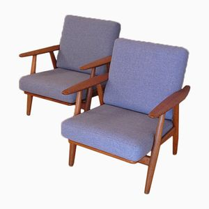 Mid-Century GE240 Cigar Chairs by Hans Wegner for Getama, Set of 2