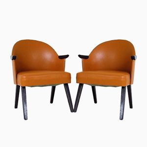 Polish Club Chairs from SPWM, 1950s, Set of 2