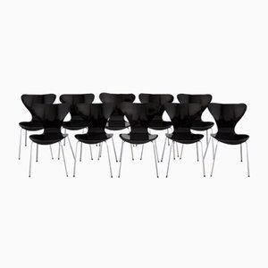 3107 Series Butterfly Chair by Arne Jacobsen for Fritz Hansen, 1968, Set of 10