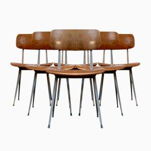 Industrielle Result Esszimmerstühle von Friso Kramer für Ahrend de Cirkel, 1969, 6er Set