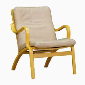 Dänischer Mid-Century Leder Armlehnstuhl von Stouby
