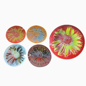 Vintage Daisies Plates by Andy Warhol for Rosenthal, Set of 5