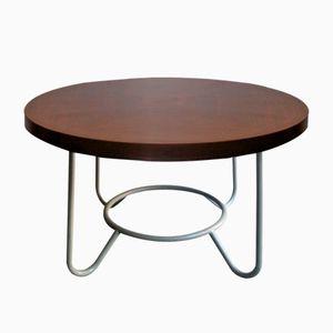 Runder Vintage Tisch mit Holzplatte