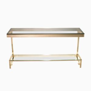 Brass Console by Guy Lefevre for Maison Jansen, 1970s