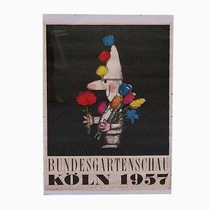 Poster Köln Bundesgartenschau par Herbert Leupin, 1957