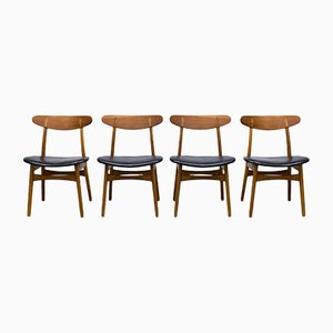 Vintage CH30 Esszimmerstühle von Hans J. Wegner für Carl Hansen & Søn, 4er Set