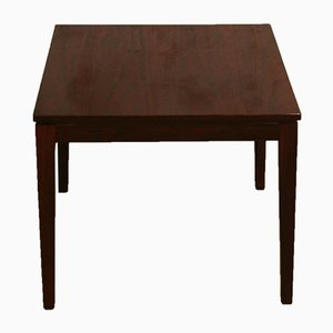 Mid-Century Rosewood Square Side Table