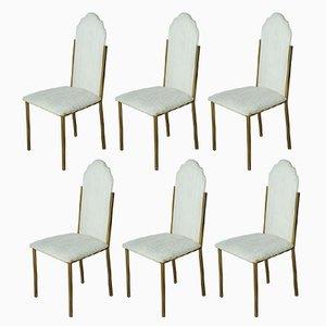 Vintage Esszimmerstühle von Alain Delon für Maison Jansen, 6er Set