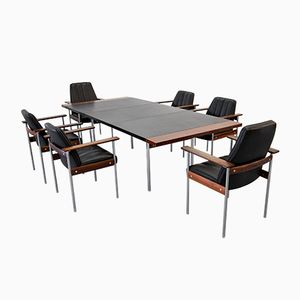 Vintage Dining Set with Six Chairs by Sven Ivar Dysthe for Dokka