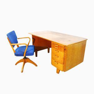 Bureau & Chaise Vintage pour Åvidaberg, Scandinavie, 1950s