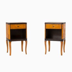 Haga Bedside Tables by Carl Malmsten for Nordiska Kompaniet, 1930s, Set of 2