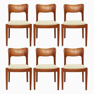 Ole Teak Dining Chairs by John Mortensen for Koefoeds Hornslet, 1981, Set of 6