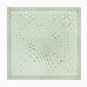 German Geometrical Glass Wall or Ceiling Lamp from Wila, 1960s