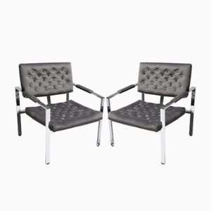 Vintage Lounge Chairs by Milo Baughman, Set of 2
