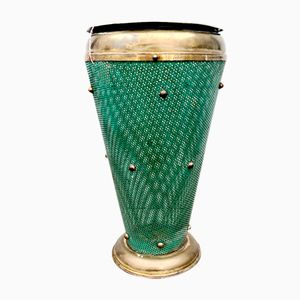 Italian Vintage Brass Umbrella Stand