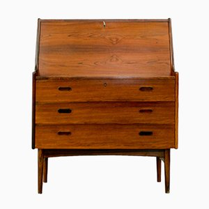 Rosewood Secretary Writing Cabinet by Arne Wahl Iversen for Vinde Møbelfabrik