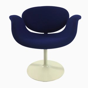 Blue Little Tulip Armchair by Pierre Paulin for Artifort, 1960s