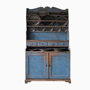 Vintage Swedish Blue Kitchen Cabinet