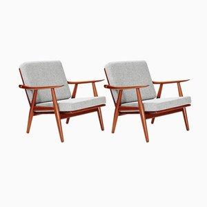GE-270 Chairs in Dark Teak by Hans Wegner for Getama, 1956, Set of 2