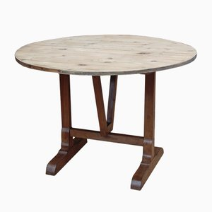 Antique Cherry & Pine Vendange Table