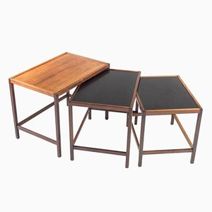 Danish Mid-Century Nesting Tables in Rosewood by Kurt Østervig for Jason Møbler